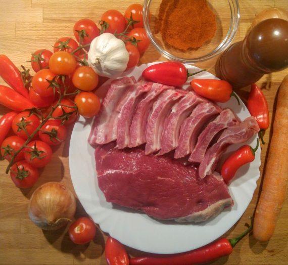 Tiršta troškintos mėsos sriuba