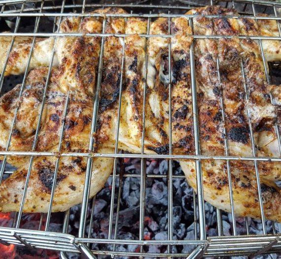 Ant žarijų keptas viščiukas